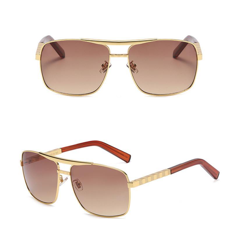 파리 패션 태양 안경 디자이너 새로운 남성 선글라스 패션 MIG 합금 프레임 럭셔리 시리즈 선글라스 UV400 고품질 남성 선글라스