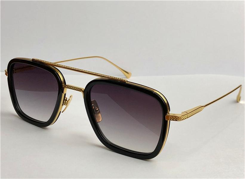 Moda Tasarım Adam Güneş Gözlüğü 006 Kare Çerçeveleri Vintage Stil UV 400 Koruyucu Açık Gözlük Kılıfı