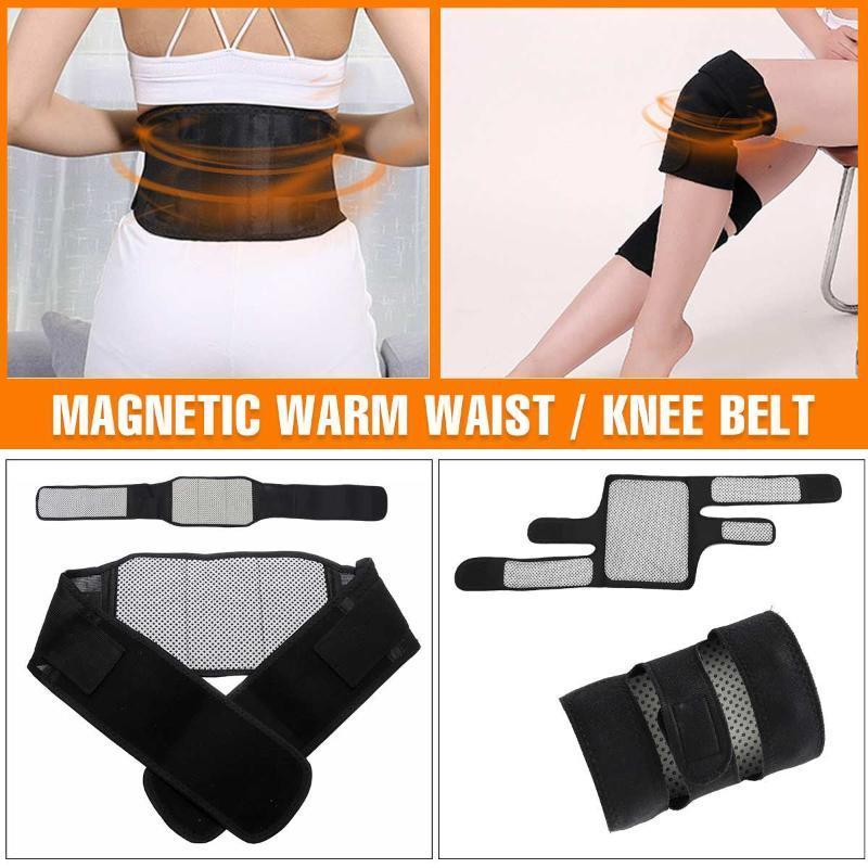 Pista de soporte de la rodilla Almohadillas de soporte Ajustable Turmalina Autoproceso Magnético Terapia Magnética Cinturón protector de la rodilla Masajeador de artritis