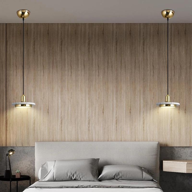 2021 Lâmpadas de Pingente de Quarto Nórdico Mármore Personalidade Criativa Restaurante Indoor Iluminação Simples Bar Pequeno Candelabro