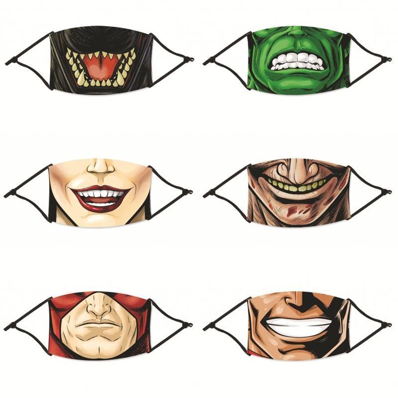 4-Mund-Atemschutz-Gesichtsmasken Mascarilla Fashion 2zya-Filter Anti-Zähne waschbar mit wiederverwendbaren Männern Frauen Cartoon C2-Staub Ebuuj