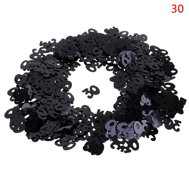 Горячая распродажа с днем рождения Стол для вечеринки рассеяния украшения черный серебристый смешанный номер цифры 30 40 50 60 70 80 Confetti