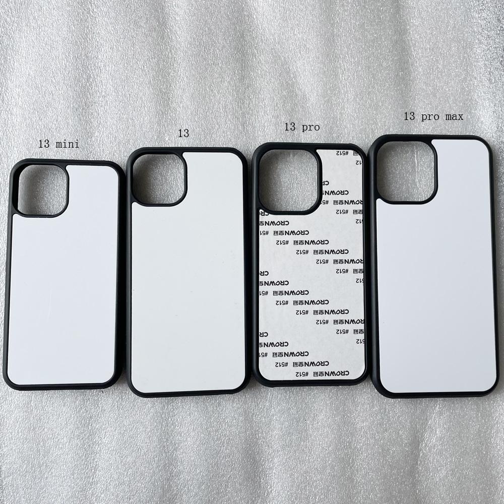 Voor iPhone 12 Mini 11 PRO MAX XS MAX XR / iPhone 5 6 7 8 Plus Zachte Rubber TPU Case + Sublimation Warmte Pers Metaal Aluminium Plaat 100 stks / partij