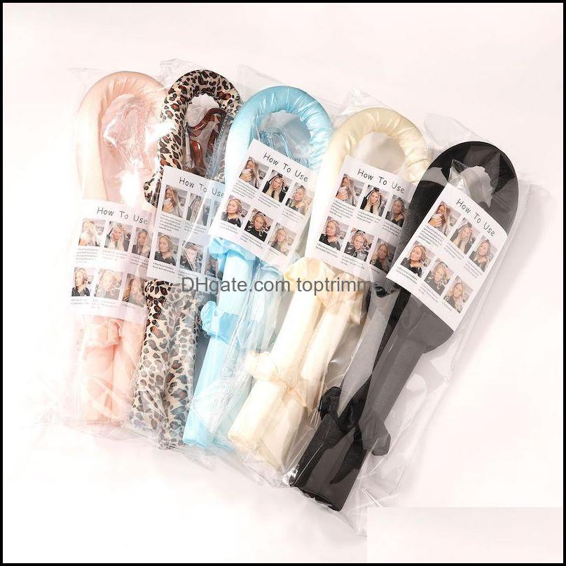 Bakım ProductSeatless Curling Çubuk Hiçbir Isı Bukleler Şerit Makaraları Slee Yumuşak Kafa Bant Curlers DIY Saç Şekillendirici Araçları 5 ADET J029 Bırak Teslimat