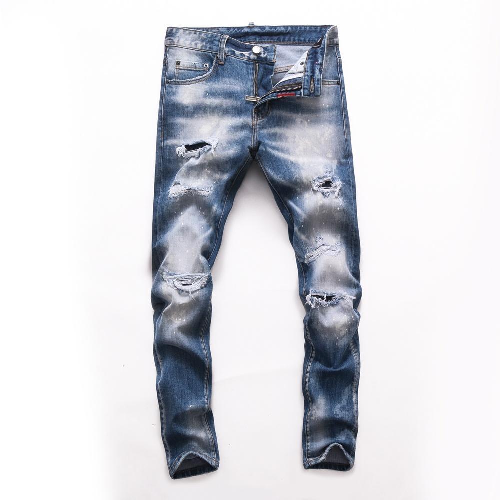 2021 Neue Marke von modischen europäischen und amerikanischen Männer Lässige Jeans, hochwertiges Waschen, reines Handschleifen, Qualitätsoptimierung LTD2741