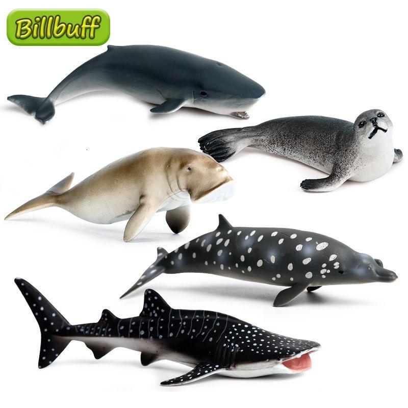 Simulación Océano Animales Sello Ballena Shark Action Figuras Colección Cognición Miniatura Juguetes educativos para niños