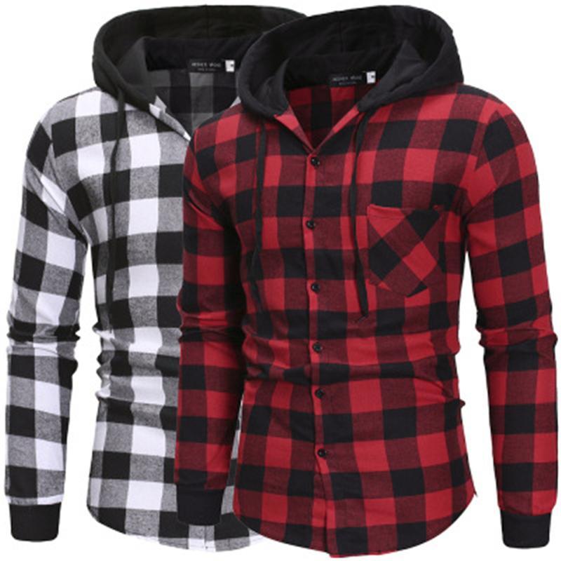 T-shirts pour hommes T-shirts Sweats à Sweats à Sweats à manches longues à manches longues Cardigan Cardigan Card à facettes Chemises à capuchon Spring Mâle Casual Casual Pullover Tops