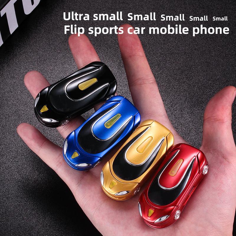 Nicht kennst kleinste Automodell Goldene Cartoon-Flip-Mobiltelefon BlueToot-Zifferblatt Nein Internet-Mini-Tasche tragbare Studenten-Handy-Geschenk für Kinder
