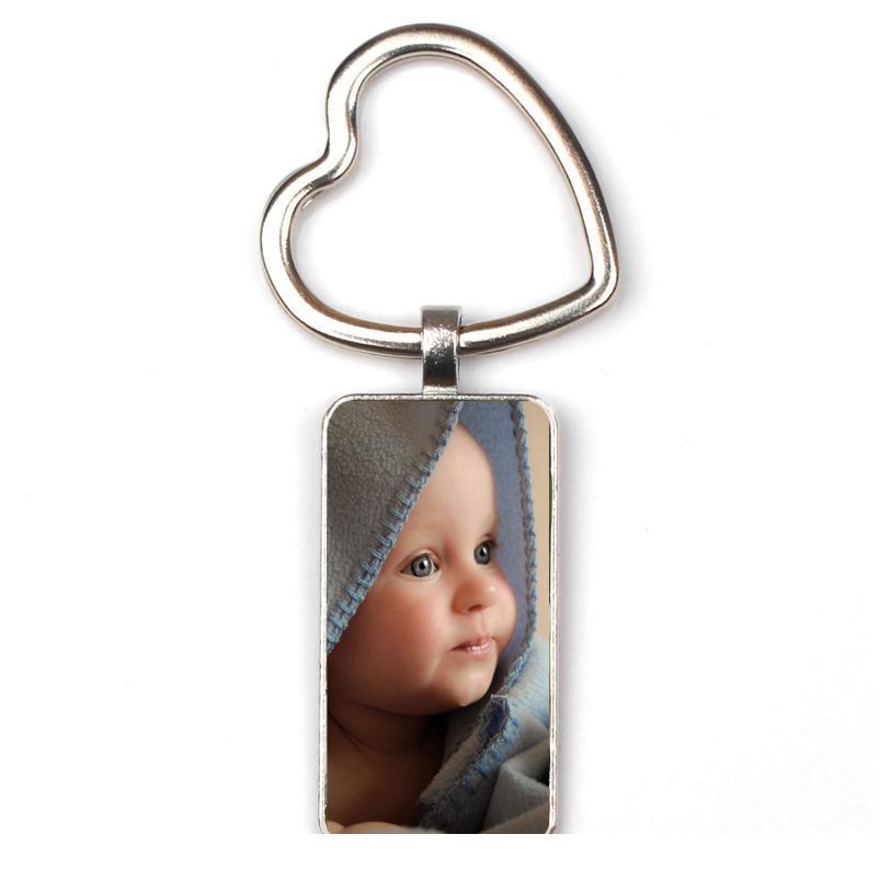 Kişiselleştirilmiş Fotoğraf Kolye Özel Dikdörtgen Anahtarlık Fotoğraf Bebek Çocuk Anne Baba Dahni Sevilen Hediye Fakat Qylyng