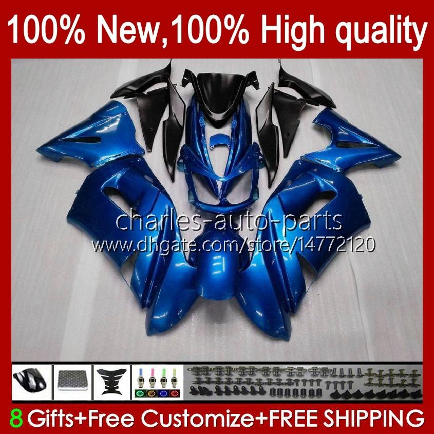 Комплект обтекателя для Kawasaki Ninja 650R ER 6F ER 6 F Pearl Blue New ER6F-650R 29HC.6 ER6 F 650 R ER6F 06 07 08 ER-6F 2006 2007 2008 Full Body