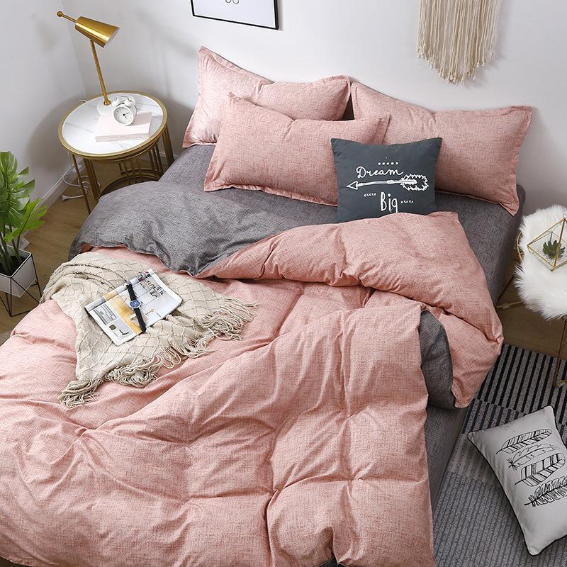 Домашний комплект постельных принадлежностей Двуспальная кровать AB бокового постельного белья Твин Queen King Size Inted Lists Семейное одеяло 220x240