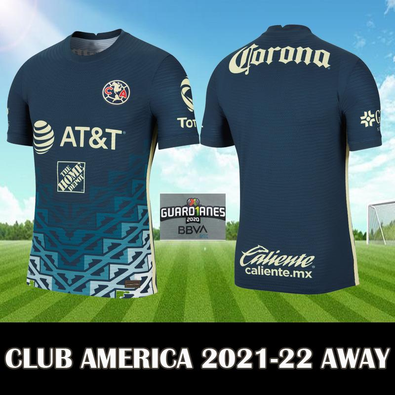 Liga MX 2021 22 Club America Away Kit Soccer Jersey 2022 Giovani 10 G.Ochoa 13 S.Cordova 17 America Top Football Camiseta de Futbol
