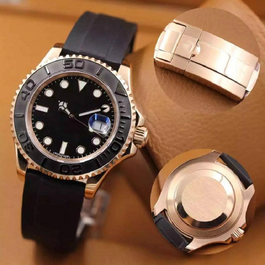 Top Mens Watch 2813 Movimento automatico Acciaio inossidabile di lusso Acciaio inossidabile Orologi meccanici Uomo Designer Gomma Designer Designer WristWatches