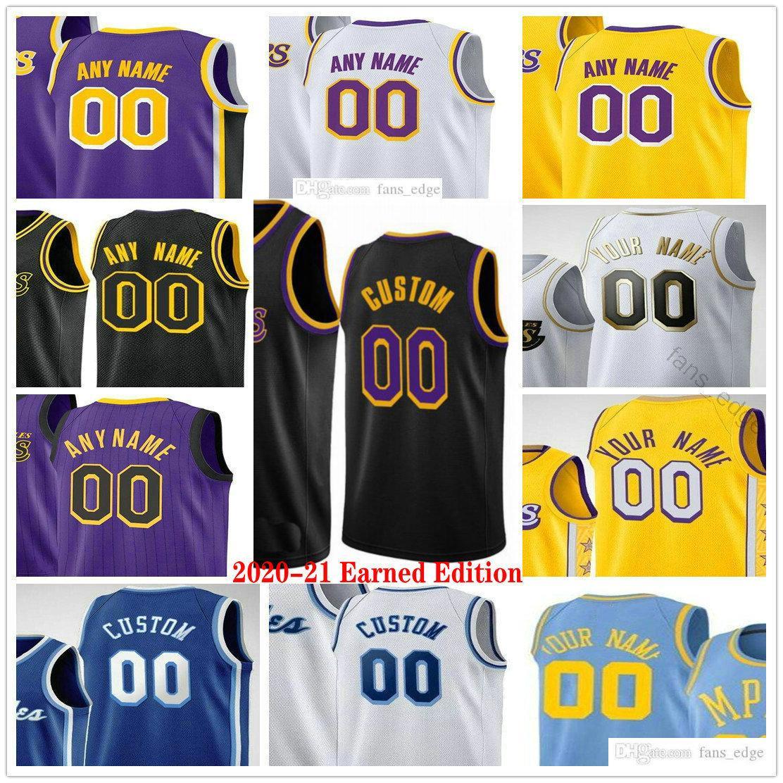 2020 2021 Edition gagnée imprimée sur mesure 23 Anthony Lebron Davis James 6 Kyle Kuzma 17 Schroder Alex Caruso Hommes Femmes Enfants Basketball Jerseys