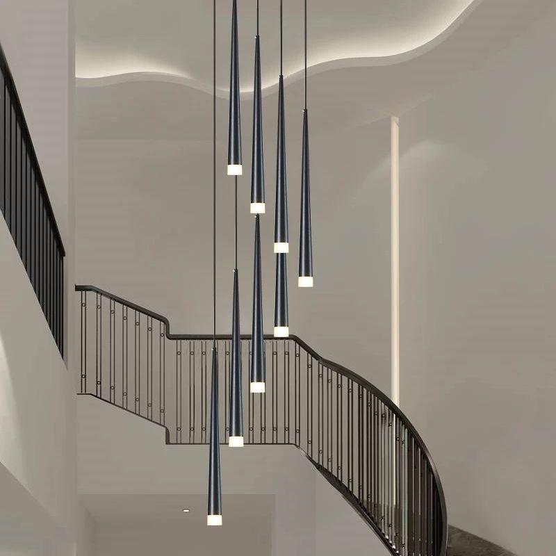 LED 긴 통을 펜던트 램프 개별 창의력 현대 식당 샹들리에 계단 빛 주방 샹들리에 바 샹들리에