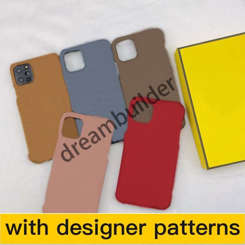 Capas telefônicas para iPhone 11 Pro Max 12 12Pro 12PROMAX Capa 7 8 Plus x XR XS XSmax couro de pelúcia