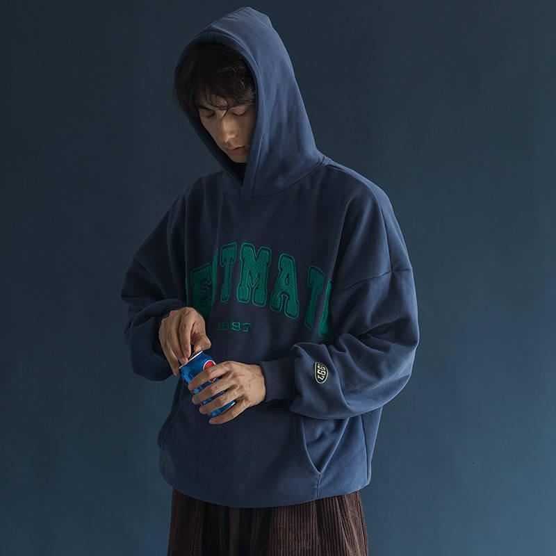 2021 хип-хоп мужские женские толстовки новая буква вышивка пуловеры повседневная толстая толстая толстое теплое пальто Высокая уличная толстовка FMSV