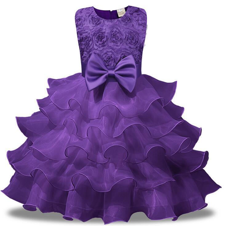 الفتاة فساتين الأميرة الصغير الدانتيل اللباس لفتاة ملابس الأطفال حزب مراهق مساء ارتداء حفلة موسيقية الزفاف 3m-8 سنة