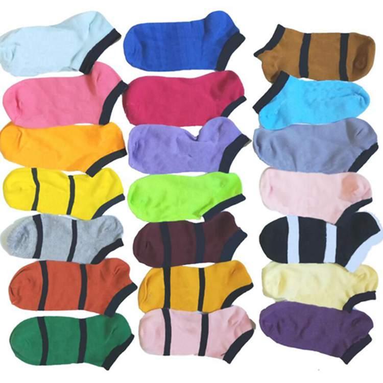 إبرة المنزل الكاحل الجوارب متعدد الألوان النسيج الفتيات مثير الجوارب قصيرة جورب الصيف النعال القطن ZWL257