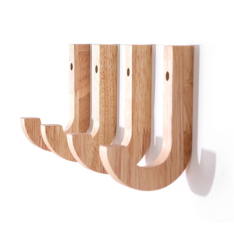 Ganci da parete in legno creativo Ganci da asciugamani Cappello Cappello Ganci in rovere Wood Wood Hooks Portachiavi Portachiavi Porta di accumulo Organizer DDA6136