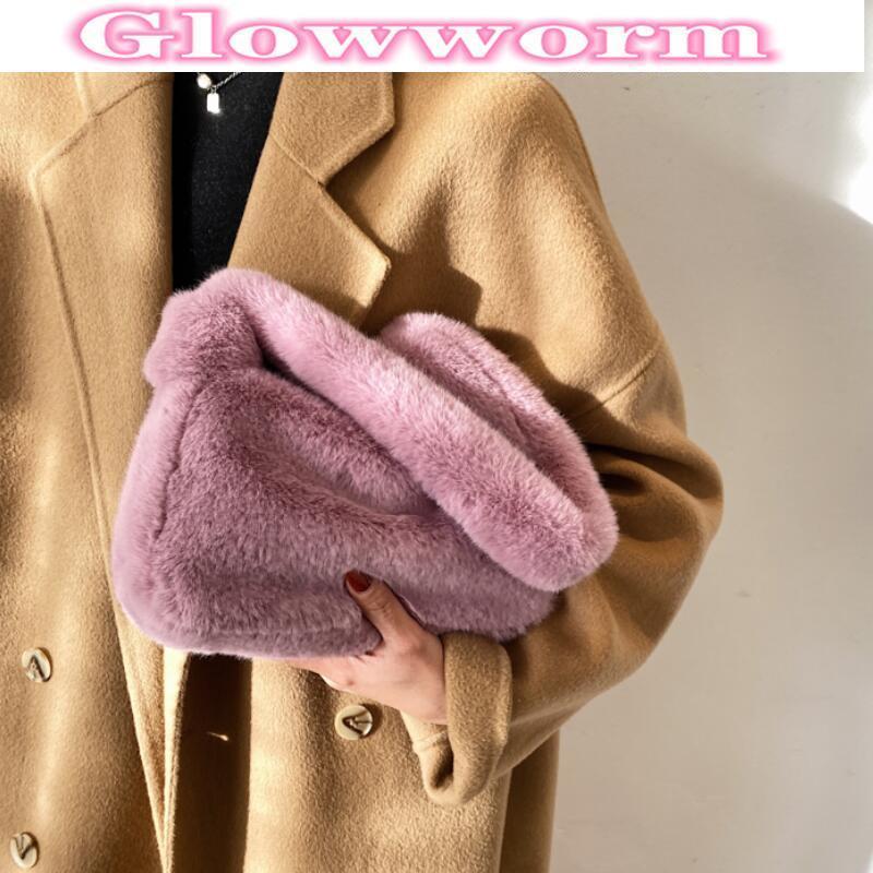 Borsa a tracolla autunnale e inverno a grande capacità in pelliccia 202 New Fashion Designer Designer Designer Designer BAG Cute Mano carina