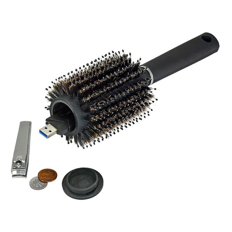 Hair Brush Black Stash Safe Diversion Secret Security Hairbrush Hidden Valuables Hollow Container for Home Security storage boxs 259 V2