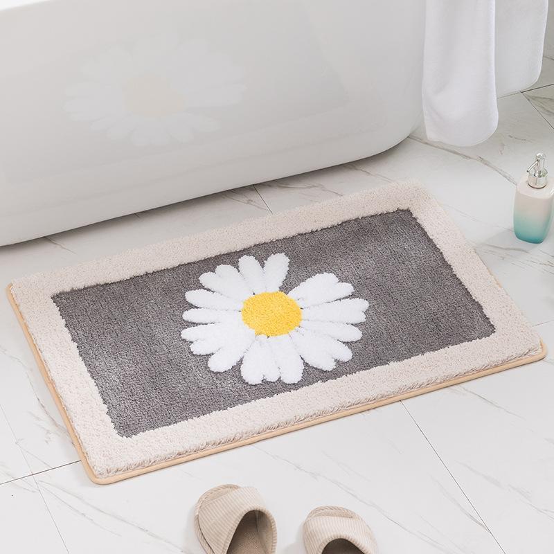 Daisy Ev Anti Kayma Banyo Giriş Sundurma Mat Yatak Odası Su Emme Halı