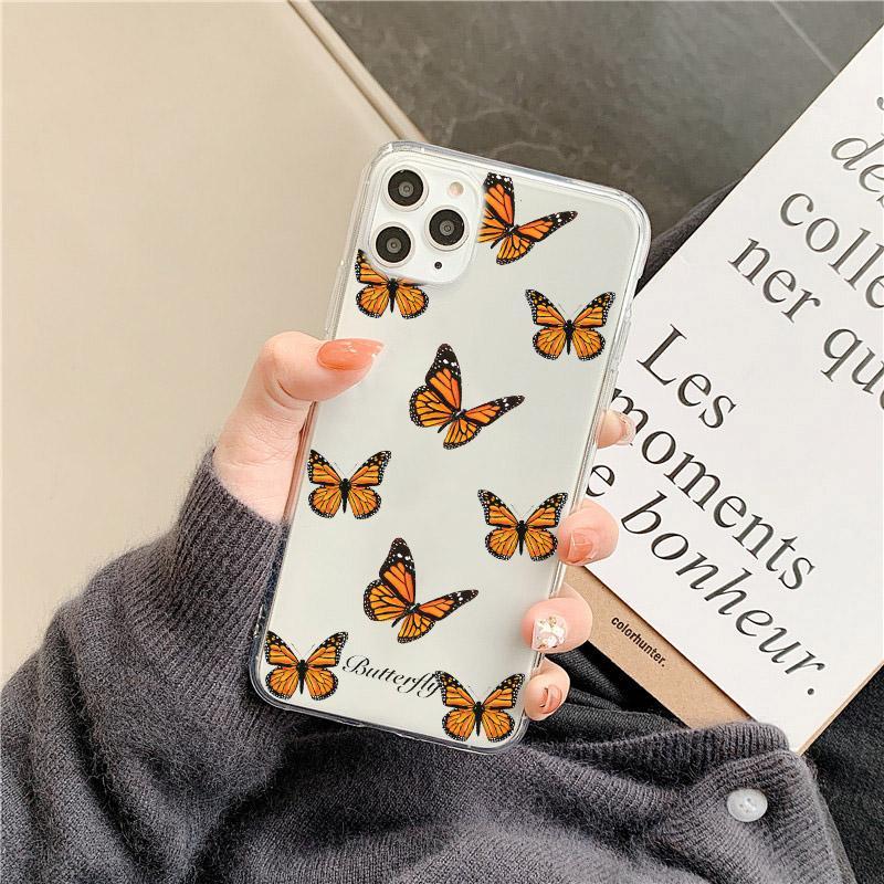 Coque de téléphone papillon mignon pour Huawei P40 P30 PRO P20 Lite Mate 30 20 P Smart Y9 Nova 5T pour l'honneur 20 8x 10 9x 30 Pro Housse arrière