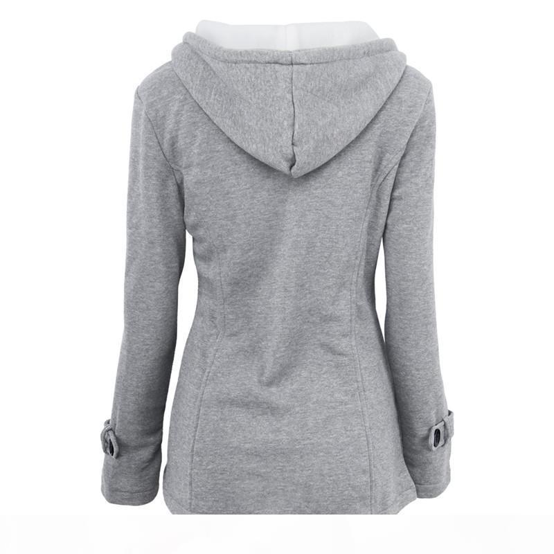 2017 winter neue frauen jacke mode dünne baumwolle mischung hörner schnalle stapel beschichtung parka mantel plus größe s-6xl hoodies parka