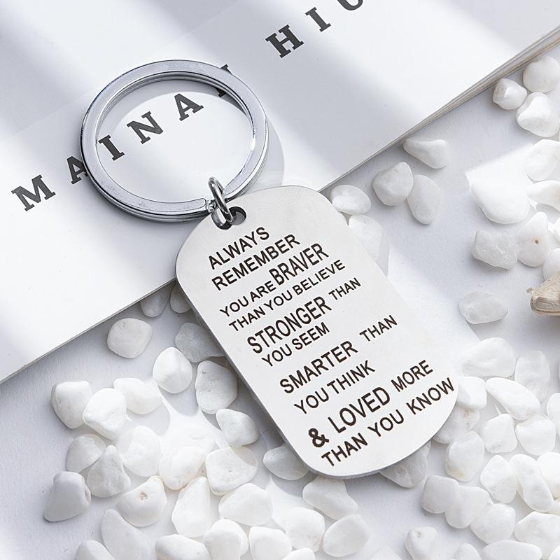Ключ из нержавеющей стали, кольцо для ключей Вы более сильнее умнее, чем вы думаете, что подвеска брелок для семейного друга Lover Gift-Z 227 R2