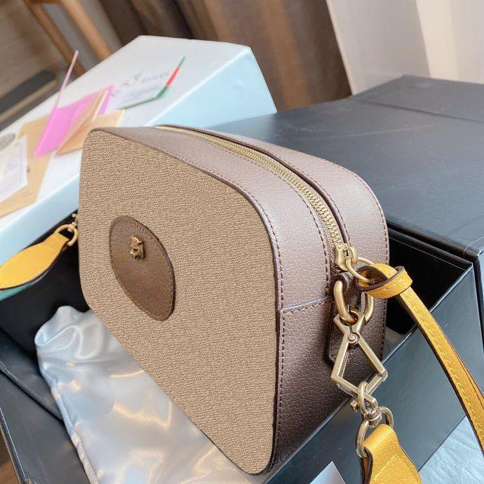 Ofidia tigre fotocamera donna borse a tracolla moda designer di lusso fiocco fili catene vintage moda flap artwork filo croce bobine body