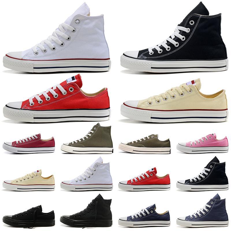 1970s ستار حذاء قماش نسائي رجل عداء Luxurys مصممي أحذية رياضية كاكي أبيض أسود وردي أحمر دنيم أحذية رياضية خارجية مقاس 36-45