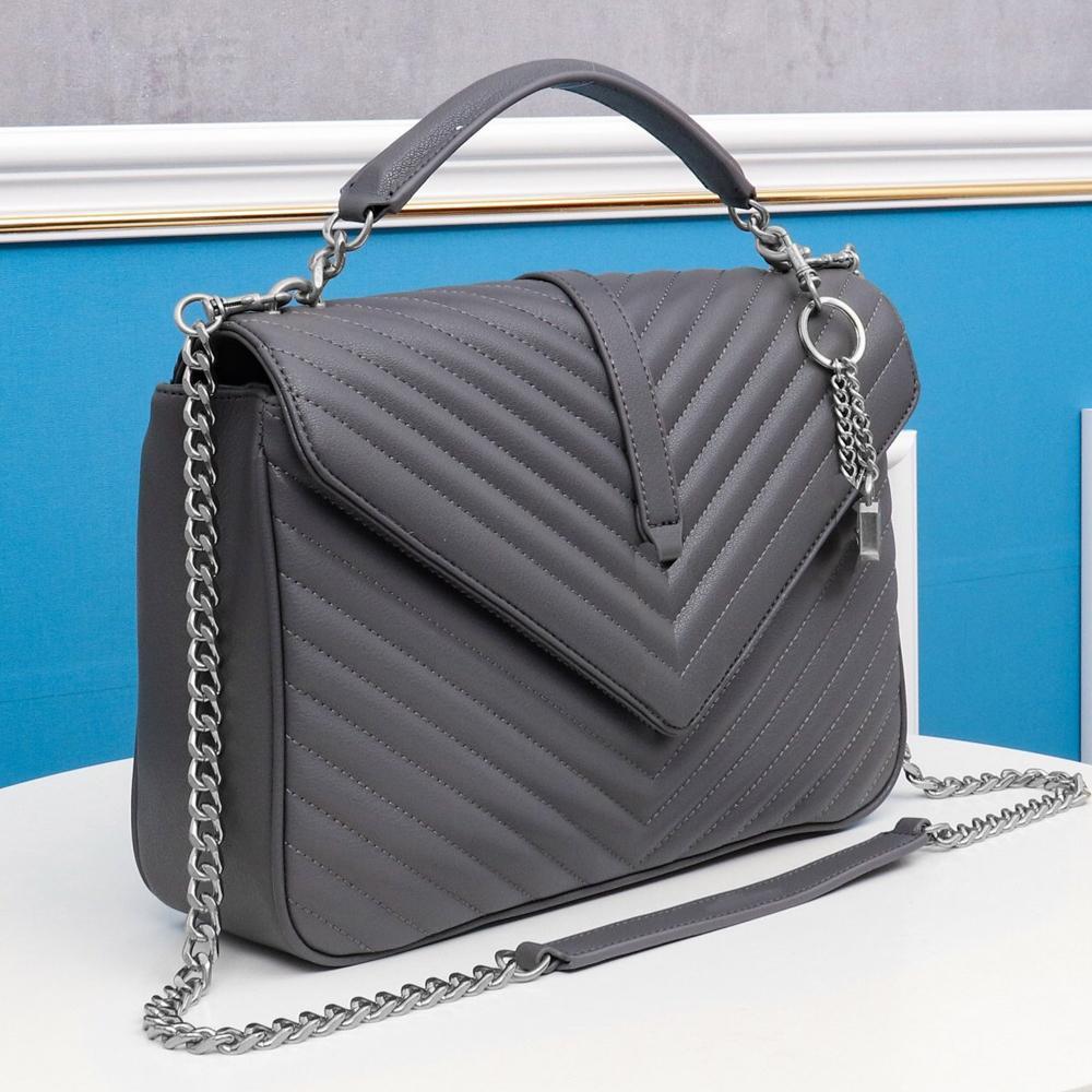 Dicky0750 Designer di lusso Borse da stilisti a forma di Y trapuntate reali in pelle da donna Borse a tracolla a tracolla catena borsa a tracolla BAG BAG DICKY0750B Hualonglin