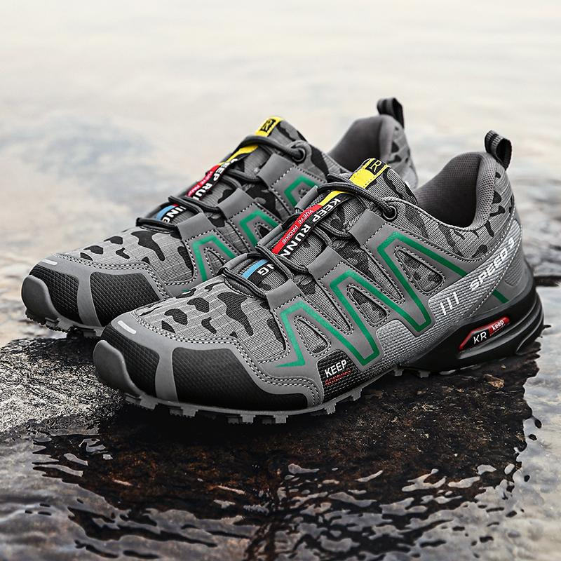 High Quality Urban Outdoor Travel Shoes Plus Size Mens Hiking Shoes Men Sneakers Rubber Hard-Wearing Non-slip Men sports shoes