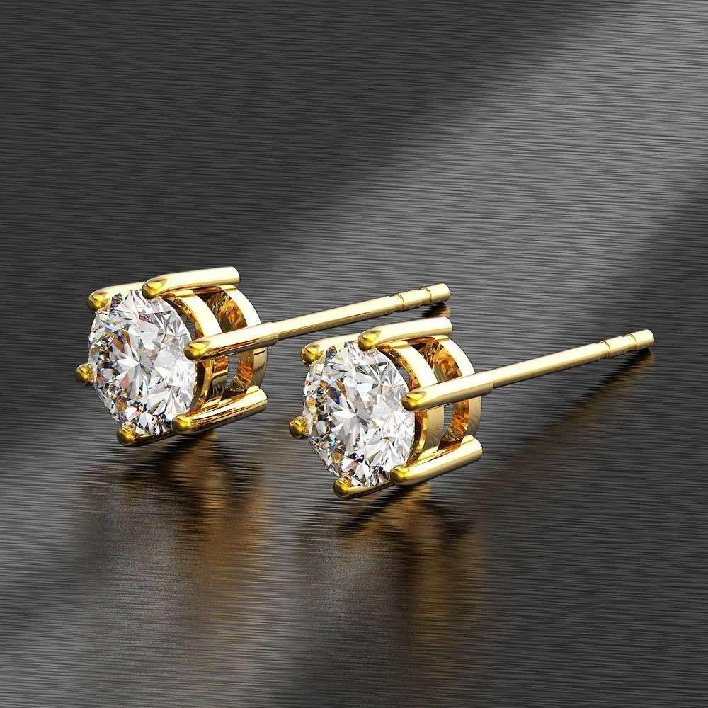 HBP fashion luxury temperament six claw ultra flash Zircon anti allergy 18K color and earrings