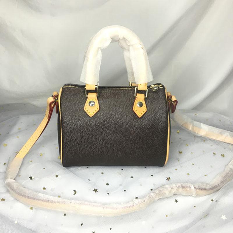 M61252 جودة عالية مصممين مصممين النساء محفظة الأزياء حقيبة crossbody 16 cm نانو البريد البسيطة حقيبة الكتف الكلاسيكية قماش وسادة أكياس