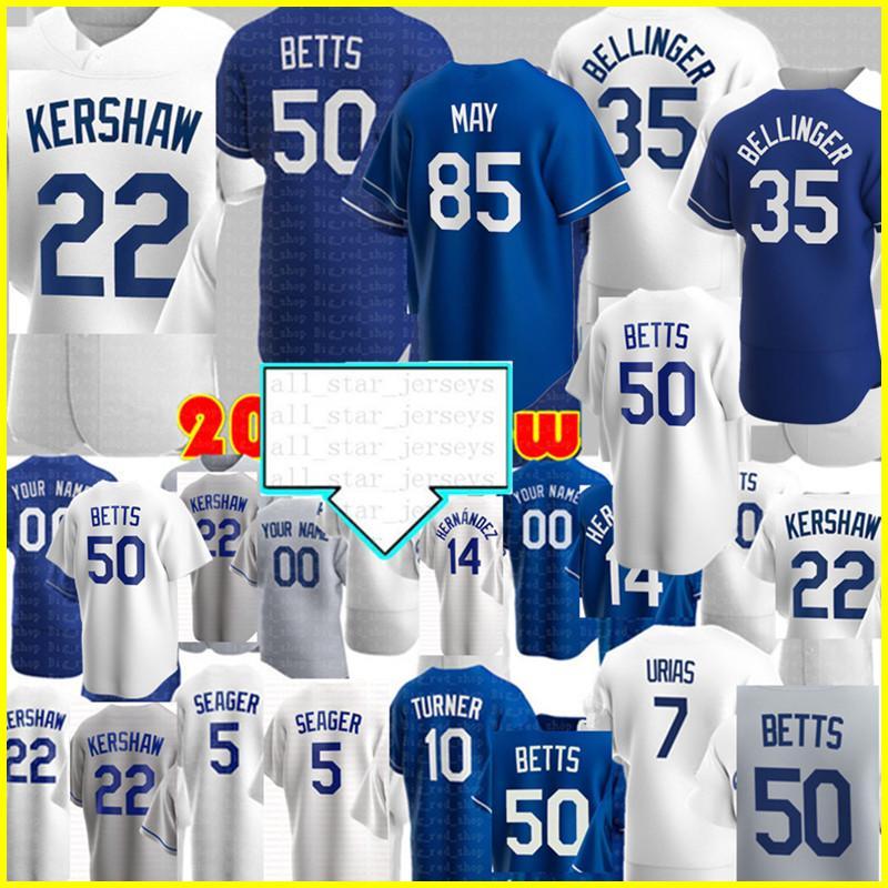 LOS 50 Mookie Betts Angeles Jersey Cody Bellinger 35 Jersey Clayton Kershaw Julio Urias Enrique Hernandez Corey Seager Justin Turner الفانيلة