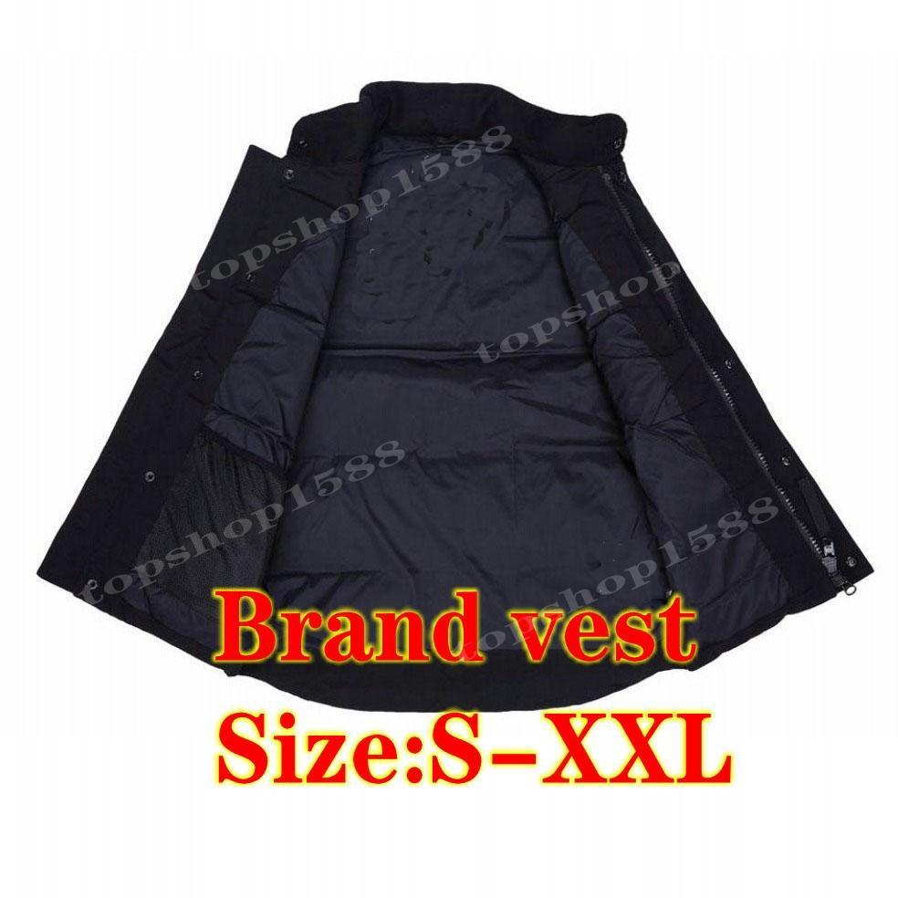 Мужская жилетница мужчины женщин зимняя куртка пальто высокое качество случайные жилеты бренда сохраняют теплый размер S-XXL
