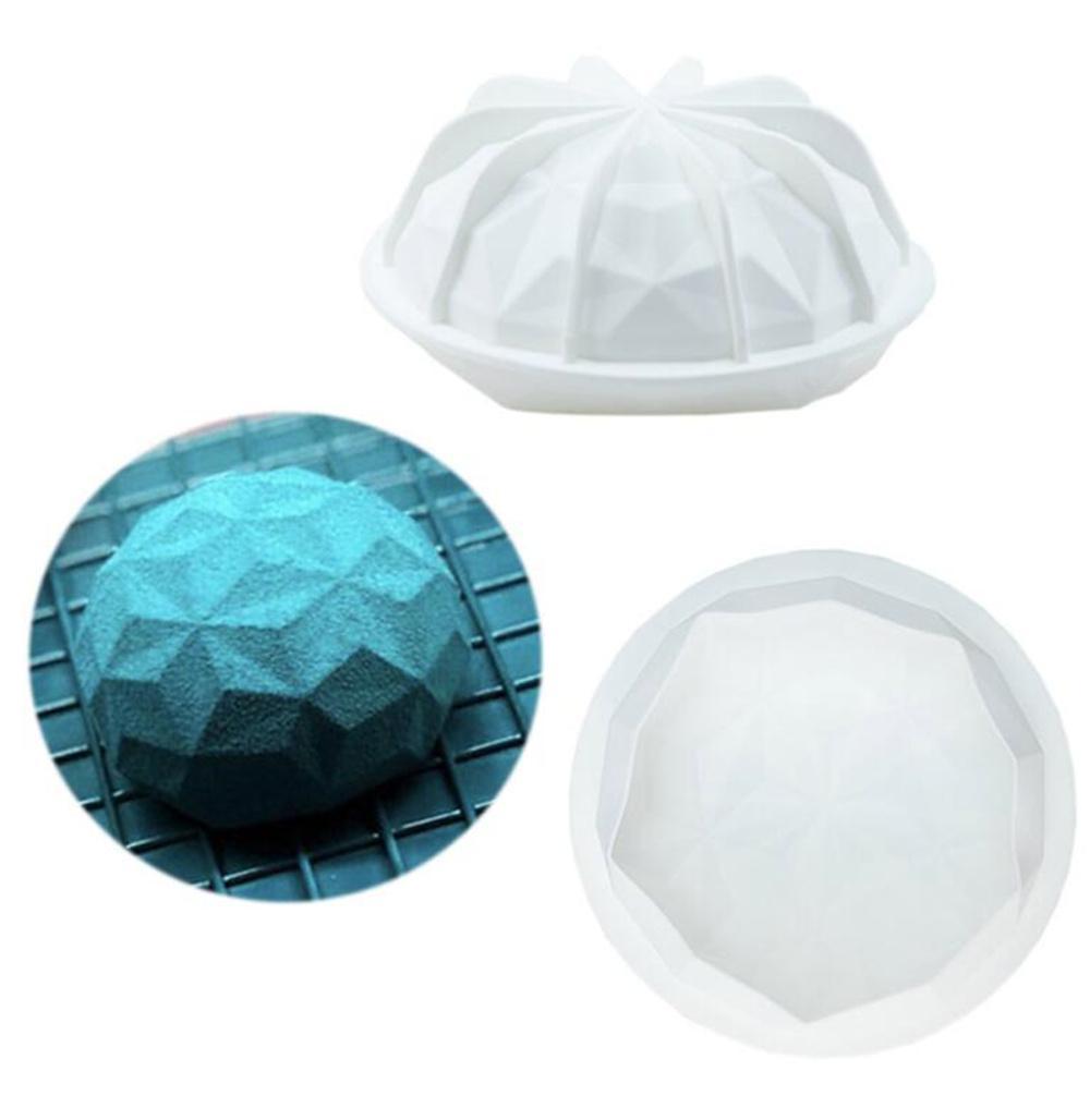 Новый обеденный бриллиант купол формы круглый силиконовый торт плесень силиконовая печь безопасный шоколадный мусс десертная противень