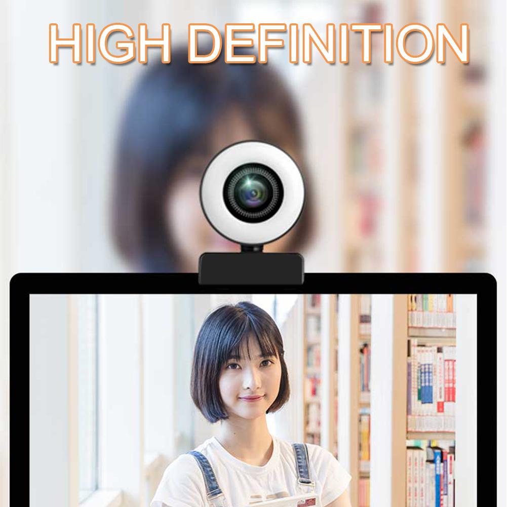 Ringlicht mit Mikrofon-PC-Laptop zum Streaming USB-Computer Webcam Online-Lehrergaming HD 1080P 2K 4K-Konferenz