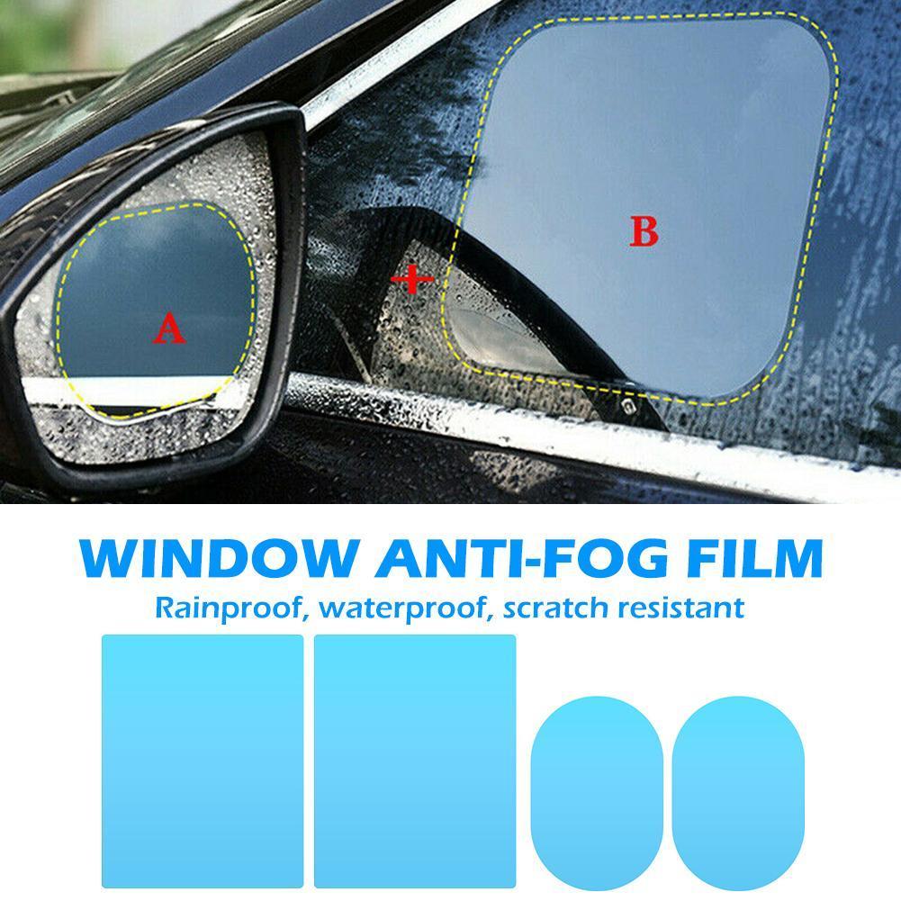 자동차 사이드 백미러 윈도우 우수 품질 비가 방지 다기능 방수 방지 안개 필름 175x200mm 150x100mm