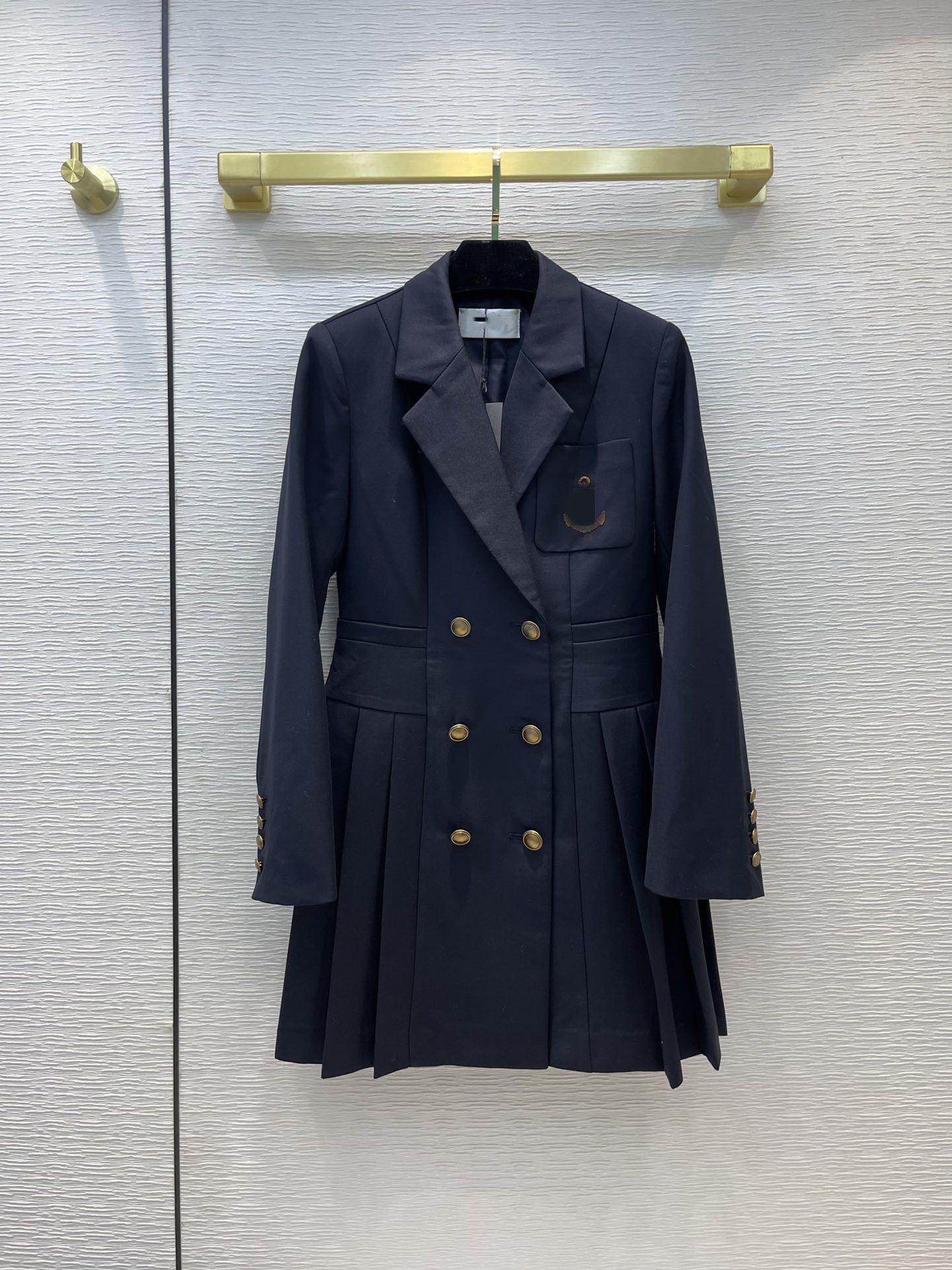 Milan Pist Elbiseler 2021 Sonbahar Yaka Boyun Uzun Kollu Tasarımcı Elbise Marka Aynı Stil Giyim 0820-25