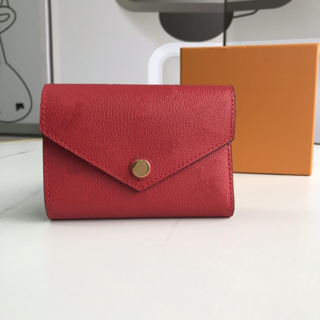 Оптом тиснение кожаный кошелек для женщин многоцветный дизайнер короткий кошелек держатель для карт женский кошелек классический карман молнии викторин