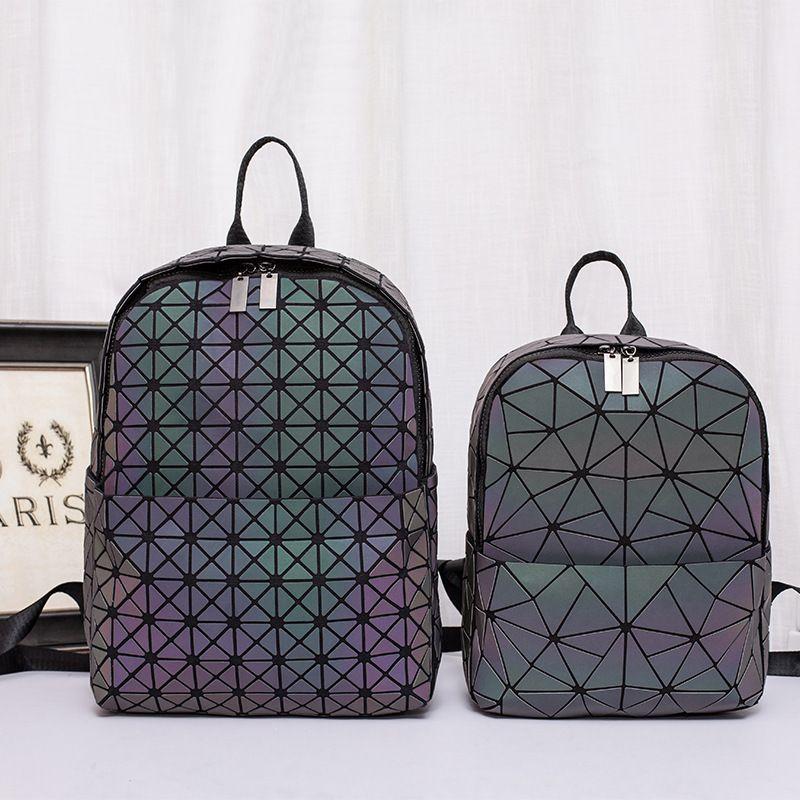 Men's luminous backpack Lingge student's big book bag style Laptop Backpack 35x26x14.5cm