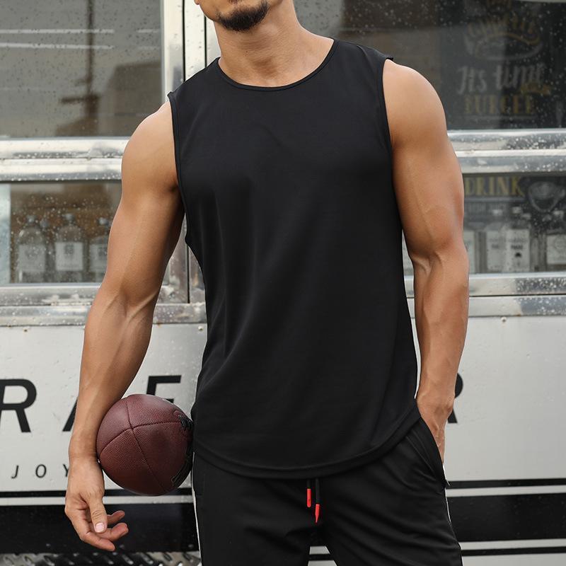 Mens Tank Top Vest Summer Sleeveless Gyms Sportswear Newest Fashion Design Bodybuilding Singlets Fitness Man Daily Workout Shirt