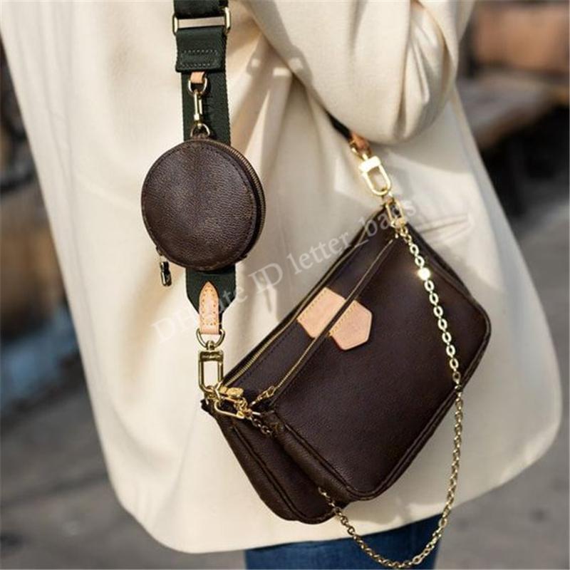 مصممي الفموريون 2021 متعدد الصفات اكسسوارات الكتف حقيبة المرأة حقائب crossbody جونغ حمل حقائب الأزياء حقيبة محفظة محفظة M57634 حقيبة الظهر