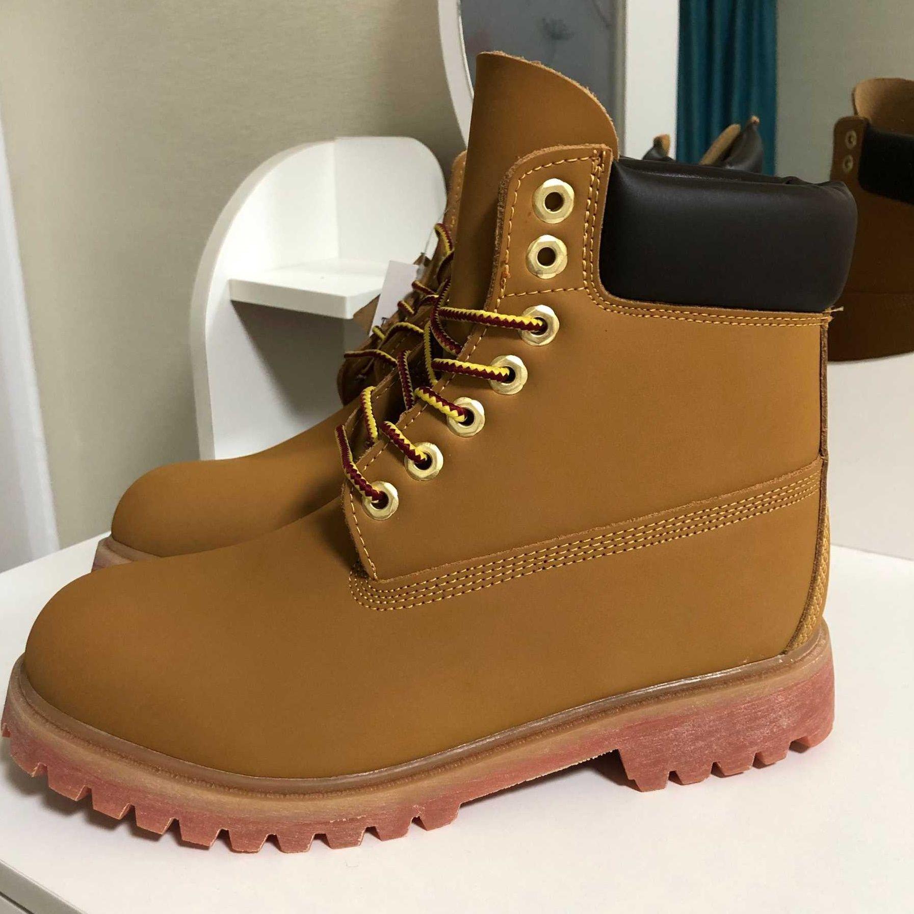 timberland timbers tim berlans timberlands bottes hombres botas diseñador para hombre zapatos de cuero para mujer de calidad tobillo bota de invierno para vaquero amarillo 36-45