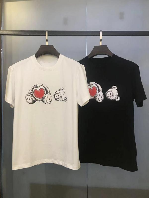Fransız Bahar ve Yaz Yeni Moda Ulusal Decapitated Ayı Mektup Baskı Bayanlar T-shirt Boy erkek Rahat Pamuk Gevşek T-shirt