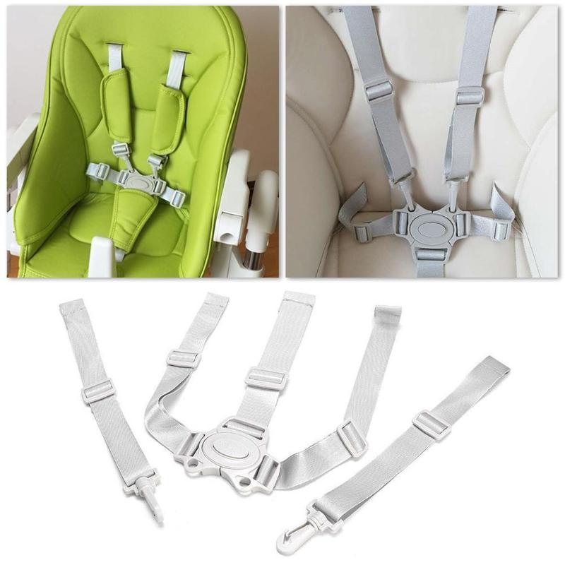 Baby Universal 5 Point Reamness Высокий стул Безопасный ремень ремня безопасности для коляски Прайс-коляска Багги Детский малыш Cushchair Детский столовой стул