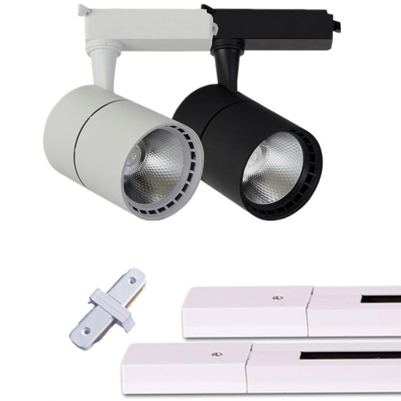 2pcs LED 트랙 빛 20W 30W COB 스포트 라이트 천장 마운트 레일 트랙 램프 장식 LED 스포트라이트 조명 쇼핑